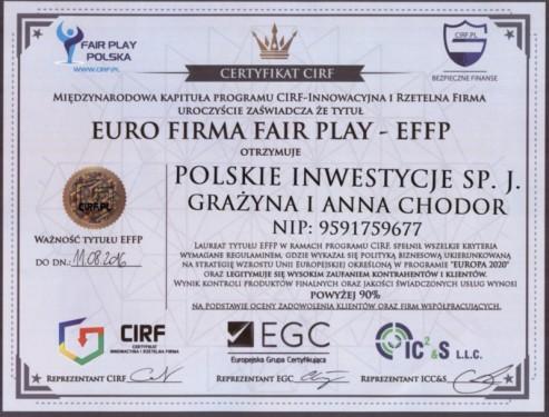 Certfikat EFFP